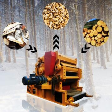 400mm Logs and Various Wooden Pallets with Nails Chipper Machine Wood Chipping Machine