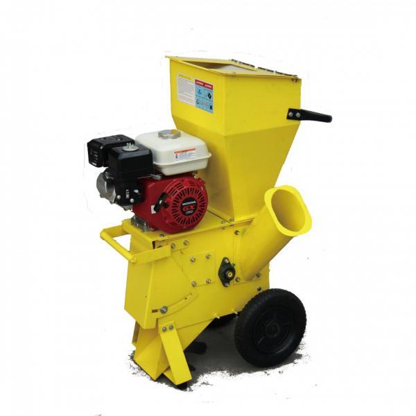 Electric Wood Chipper Machine , Heavy Duty Chipper Shredder High Speed #3 image